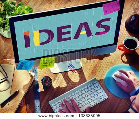 Ideas Strategy Suggestion Tactics Vision Thoughts Concept
