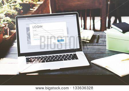 Authorize Start up Online Data Internet Concept