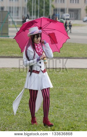 Cosplayer Dressed As Mephisto Pheles From Manga Blue Exorcist