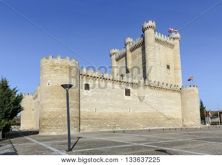 Fuensaldana Castle in the province of Valladolid Spain