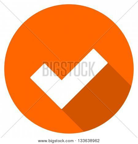 accept vector icon, circle flat design internet button, web and mobile app illustration