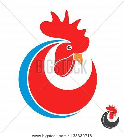 Rooster. Symbol of New Year 2017. (EPS)