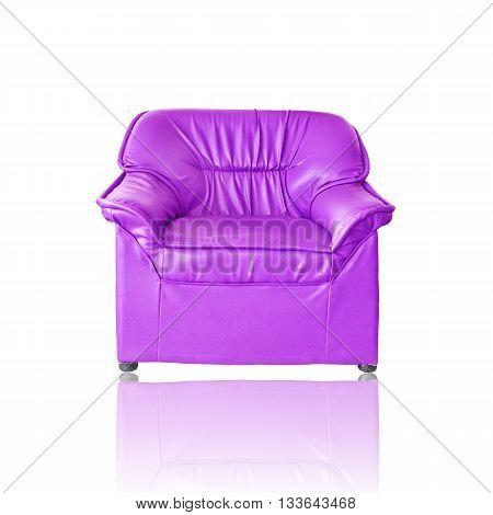 Purple sofa furniture on a white background