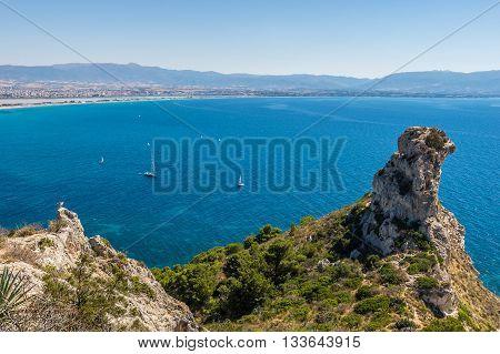 Devil's Saddle View On Cagliari, Sardegna