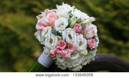 Wedding bouquet. Bride's flowers, bridal wedding bouquet