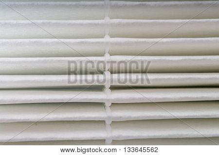 Air filter of ventilation system. Macro shot.