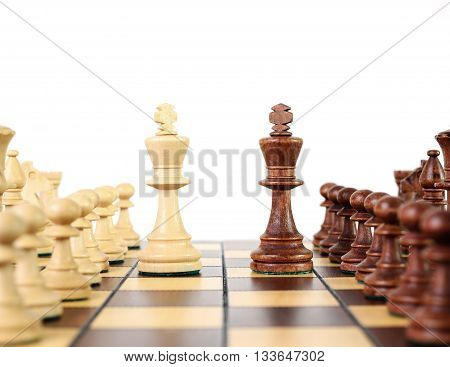 Chess kings and the other pawns on the chessboard