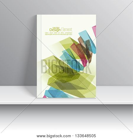 Magazine Cover with colored crystals, trellis structure. For book, brochure, flyer, poster, booklet, leaflet, postcard business card annual report abstract background vector