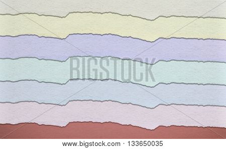 Background made of multicolored paper stripes, Pastel colors.