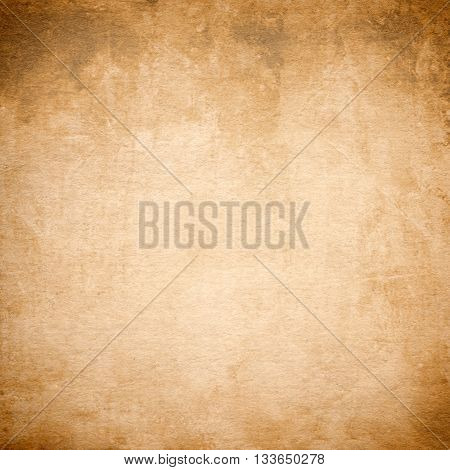 Old brown grunge, vintage stained paper background