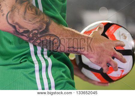 Mexican Soccer On Detail During Copa America Centenario