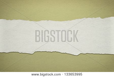 Background made of old paper with torn paper stripe.