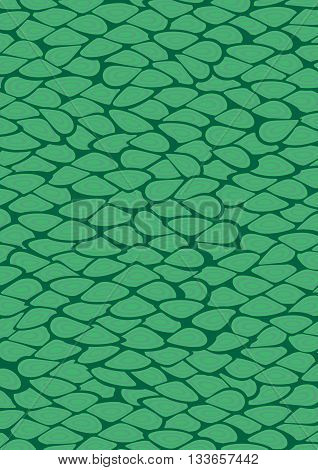 Green cells inspired patterns abstract vector background design.