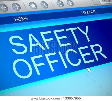 Safety Officer Online Concept.