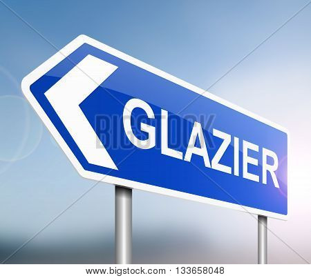 Glazier Sign Concept.