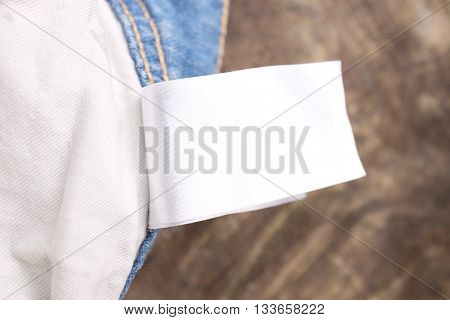 Empty garment and clothing labels and tags