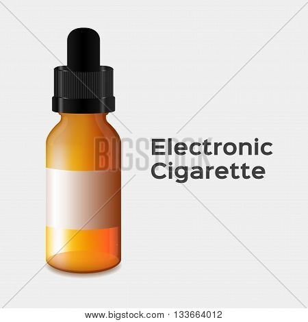 electronic cigarette vector . electronic cigarette bottle