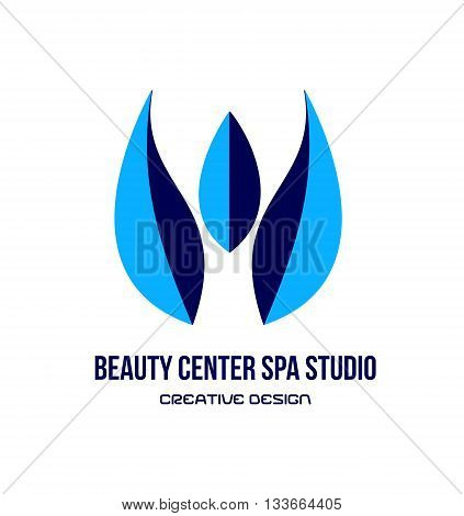 Vector company logo icon element template spa tulip flower spa beauty center studio relaxation