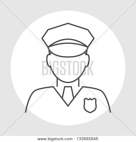 Police officer avatar. Trendy policeman icon in flat line style