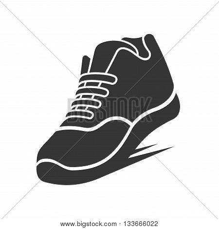Running Shoe Icon on White Background. Vector illustration