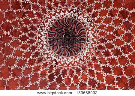 Geometrical Pattern On Taj Mahal