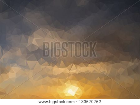 Abstract background. Colorful abstract background for design. template pattern. Geometric triangular mosaic colors of the sea and sand sky. Raster copy illustration frame