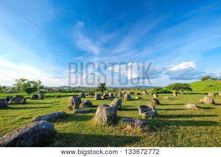 The Prehistory of Laos - Plain of Jars. Laos