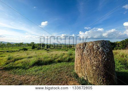 The Prehistory of Laos - Plain of Jars. Laos