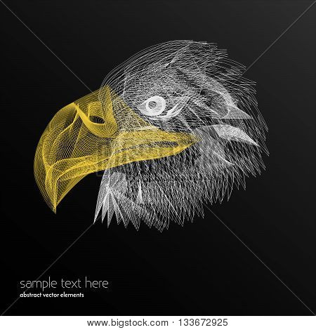 Vector abstract waves and lines background. Abstract eagle lines. Waved design element. Curvy waves vectors. Abstract template background. Blend effect vectors.