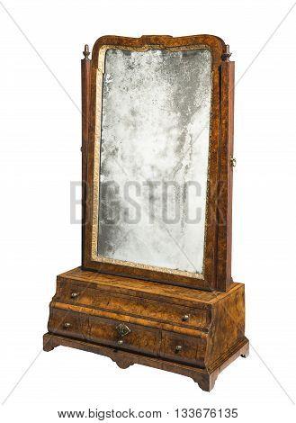 Old table mirror elegant antique with original mirror glass