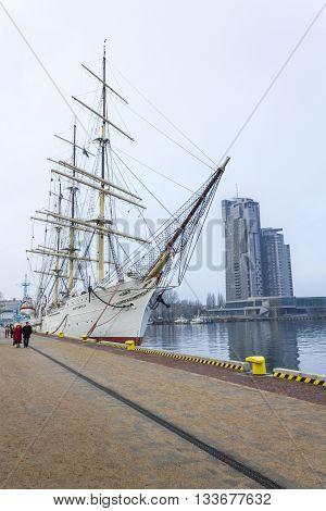 GDYNIA, POLAND - NOVEMBER 21: Training sailing ship