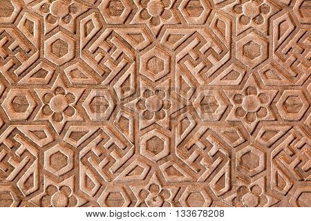 Geometrical Pattern On Red Fort