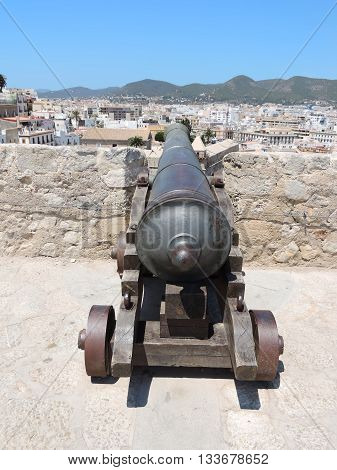 Cannons of the fortification of Ibiza town