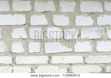 Brick wall masonry house manual of white brick