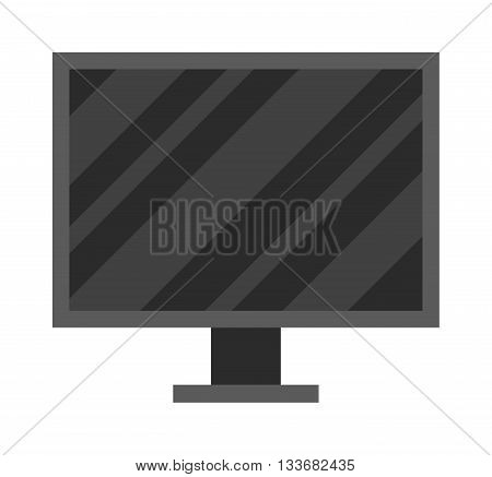 Monitor icon technology computer illustration design vector. Computer monitor icon and internet PC monitor icon symbol. Display monitor icon device communication.