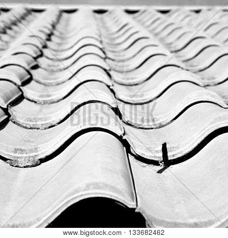 Old Roof In Italy The Line And Texture Of Diagonal Architecture