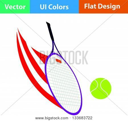 Tennis Racket Hitting A Ball Icon