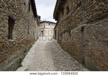 Streets of Calatañazor in Soria, Castilla leon, Spain
