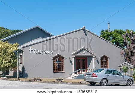 KNYSNA SOUTH AFRICA - MARCH 3 2016: The Charisma Church in Knysna a coastal town on the Garden Route