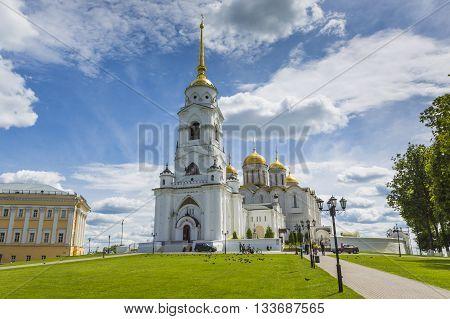VLADIMIR - JUNE 05 2016 :Assumption cathedral at Vladimir in summer UNESCO World Heritage Site Vladimir Russia.