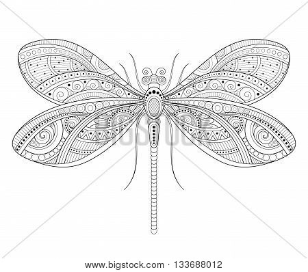 Vector Decorative Ornate Dragonfly