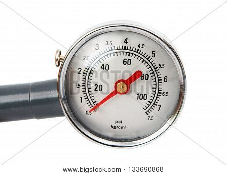 nstrument pressure gauge isolated on white background