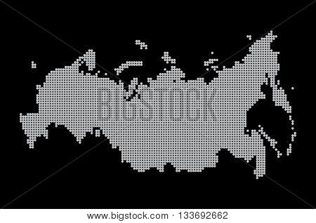 Map Of Russia. Illustration Geography Vector Cartography,
