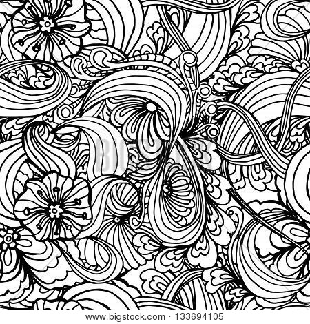 Coloring Book Page Design With Pattern. Mandala Ethnic Ornament. Isolated Vector Illustration In Doo