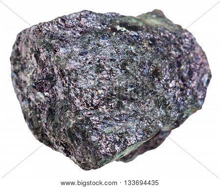 Bornite Mineral Stone (peacock Copper) Isolated
