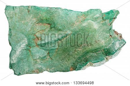 Volkonskoite Natural Mineral Isolated On White