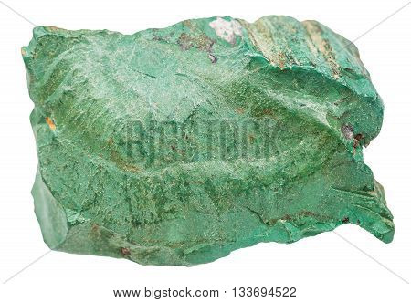 Volkonskoite Natural Rock Isolated On White