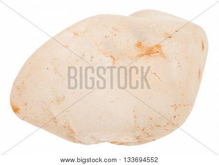 Tumbled Topaz Gemstone Isolated On White