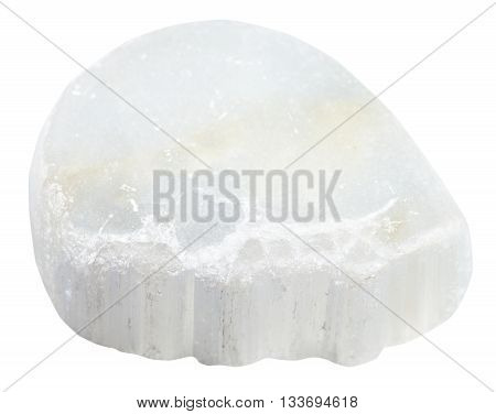 Polished Ulexite (tv Rock) Stone Isolated