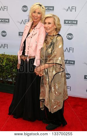 LOS ANGELES - JUN 9:  Cloris Leachman at the American Film Institute 44th Life Achievement Award Gala Tribute to John Williams at the Dolby Theater on June 9, 2016 in Los Angeles, CA